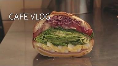 [Eng]카페 브이로그/cafe vlog/샌드위치 단면 귀여운 거 다들 알았으면 좋겠다/sandwich/카페사장/카페알바 브이로그/샌드위치 반대로 자르면 어떻게 되냐구요?