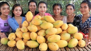 Wow amazing cooking mango dessert with sticky rice recipe in my village