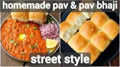 pav bhaji recipe with homemade pav in cooker | easy mumbai style pav bhaji  & pav in cooker