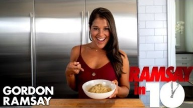 Gordon Ramsay Challenges Hell's Kitchen Contestant For Gourmet Ramen | Ramsay in 10