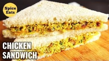 SPICED CHICKEN SANDWICH | CURRIED CHICKEN SANDWICH | CHICKEN SANDWICH