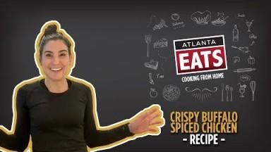 Hello Fresh's Crispy Buffalo Spiced Chicken Recipe | Atlanta Eats Cooking from Home