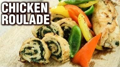 Chicken Roulade Recipe - How To Make A Chicken Roulade - Chicken Starter Recipe - Varun Inamdar