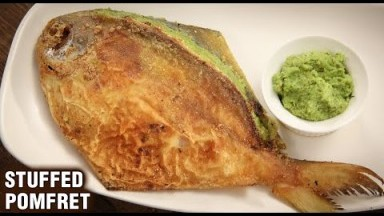 Stuffed Pomfret   Paplet Fry   How To Make Stuffed Pomfret Fry   Seafood   Fish Recipe By Varun