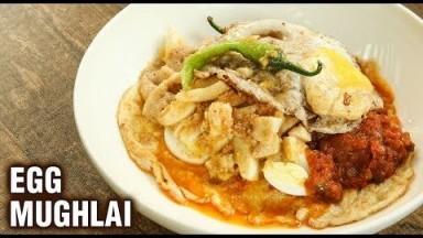 Street Style Egg Mughlai | 3 Layer Egg Recipe | Best Egg Mughlai Recipe | Street Food | Varun