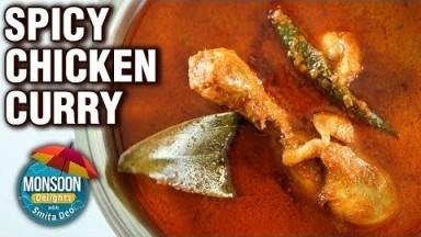 Chicken Curry Recipe - How To Make Spicy Chicken Gravy - Monsoon Delights -  Smita Deo