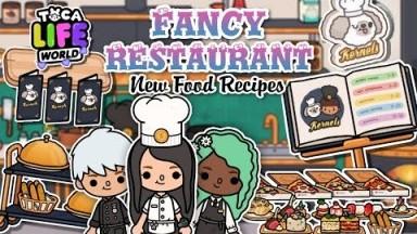 Toca Life World Fancy Restaurant Vlog: New Food Recipes | Toca Boca