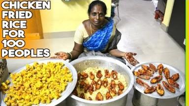 Cooking Vlog How I Manage Huge Number Of cooking Chicken fried rice Fish fry Munthiri kothu