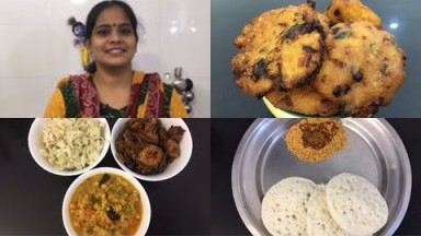 Cooking Vlog/Pagarkai Puli Kootu/Aval Vadai/Pagarkai Chips/Cabbage Coconut Curry