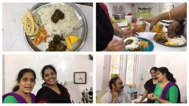 Cooking Vlog இன்றைய சமையல்/ Cook with my sister/ Goddu rasam/Vathakuzhambu Puliyodhara/Brinjal Curry
