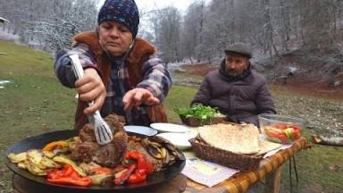 Sacda Mal Əti ilə Tərəvəz, Relaxing Video, ASMR Food