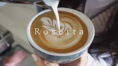 You may want to practice latte art after watching this video (slow rosetta)