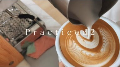 How to make the milk flow, Detailed Latte art that I practiced with SUMO JIBBIJUG, Barista Joy