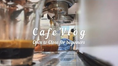 How to clean Espresso machine, Open to close cafe, Work at cafe as a barista, Cafe vlog, Latte art