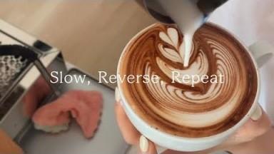Basic Latte Art Tulip (Slow, Reverse, Repeat ver.) Barista Joy, Cafe Vlog