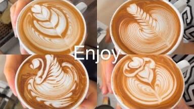 Latte Art Tulip, Rosetta, Swan, Rose Challenge by Barista Joy