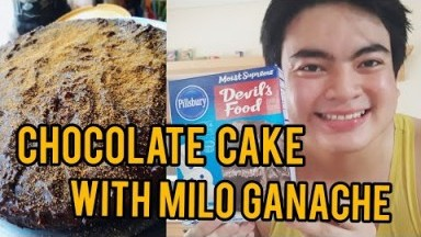 Chocolate Cake with Milo Ganache   Dessert vlog #2
