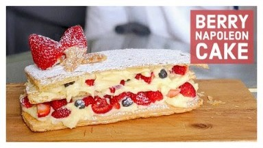 Baking Martha's Country Bakery's Berry Napoleon Cake|Easy Mille Feuille Dessert Recipe網紅拿破崙蛋糕