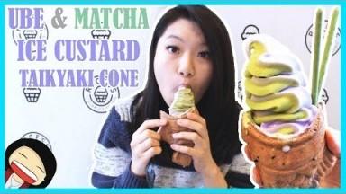 【Recess Italian Ice】Ube & Matcha Custard Taikyaki   Dessert Vlogs
