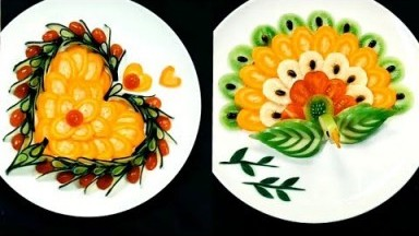 15 Easy Food Crafting Ideas | Cute Food Creation Heart | Fruit and Vegetables Carving Garnish Art