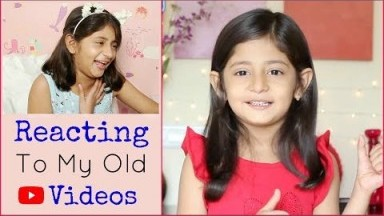 REACTION To My OLD Videos | #Fun #Kids #Vlog #MyMissAnand