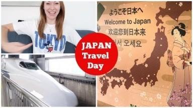 JAPAN VLOGS - Travel Day! Manchester to Narita Airport. Bullet Train (Shinkansen) Tokyo to Kyoto