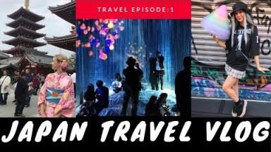 Japan Travel Vlog | TOKYO | Hotel 9h Capsule Hotel, Kimono Rental, teamLab Borderless