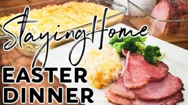 EASY EASTER DINNER RECIPES | BAKED HAM & CHEESY BAKED ORZO | Cook Clean And Repeat