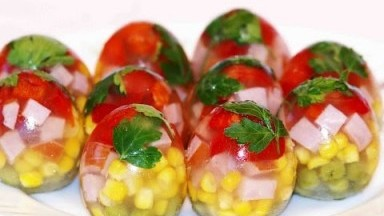 Easter food ideas JELLY EGG Easter dishes YUMMY EGGS