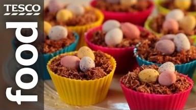How to Make Chocolate Nest Easter Cakes   Tesco Food
