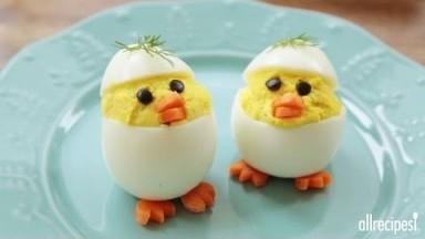 How to Make Easter Chick Deviled Eggs | Easter Recipes | Allrecipes.com