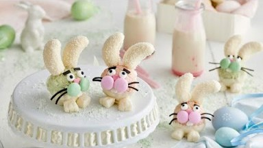 Easter White Chocolate Crackle Bunny Heads recipe