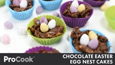 How to Make Chocolate Easter Egg Nest Cakes | Easter Recipes for Kids