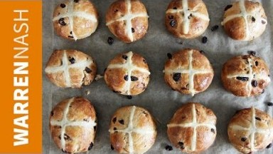 Hot Cross Buns Recipe - Easter Food Ideas - Recipes by Warren Nash