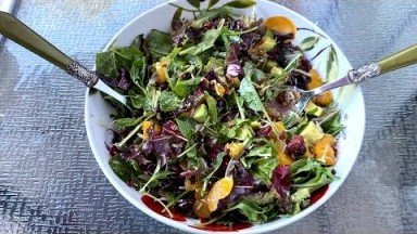 Holiday Salad Recipe With Cranberries & Pecans - Perfect For Thanksgiving, Christmas, Easter brunch!