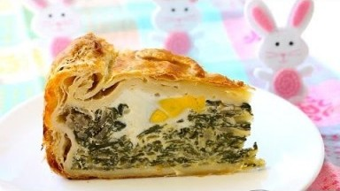Italian vegetable Easter pie recipe - torta pasqualina