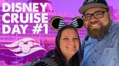 Disney Cruise Vlog Day #1! Disney Fantasy to the Caribbean!