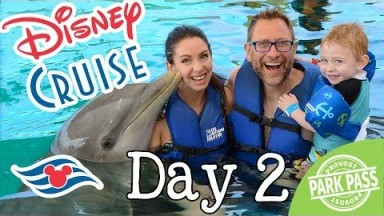 What To Expect On A Disney Cruise Day 2 | Swimming With A Dolphin and Miles Crashes At Dinner