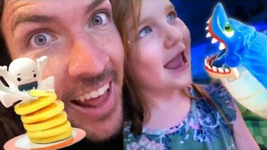 Disney Cruise games & fun THE MOVIE!!  Adley plays her favorite videos with mom & dad (game master)