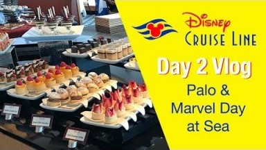 Disney Cruise Day 2 Vlog - Palo and Marvel Day at Sea - Disney Magic
