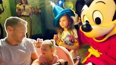Busby girls first visit to Disneyland Vlog