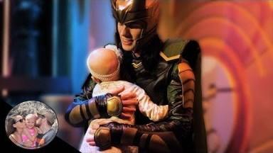 4 year old Malia melted Loki's heart with a hug!!