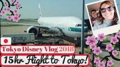 Tokyo Disneyland Vlog 2018 | 15 Hour Flight to Tokyo | KrispySmore Travel Day