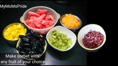 How to make homemade fruit sorbet  పండ్లతో ఈజీగా చేసే ఐస్ క్రీం   MyMoms Pride Perfect Sorbet