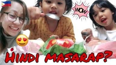 Filipino kids try some unique Japanese desserts | Kawaii Spring foods | CarolAnne Vlogs